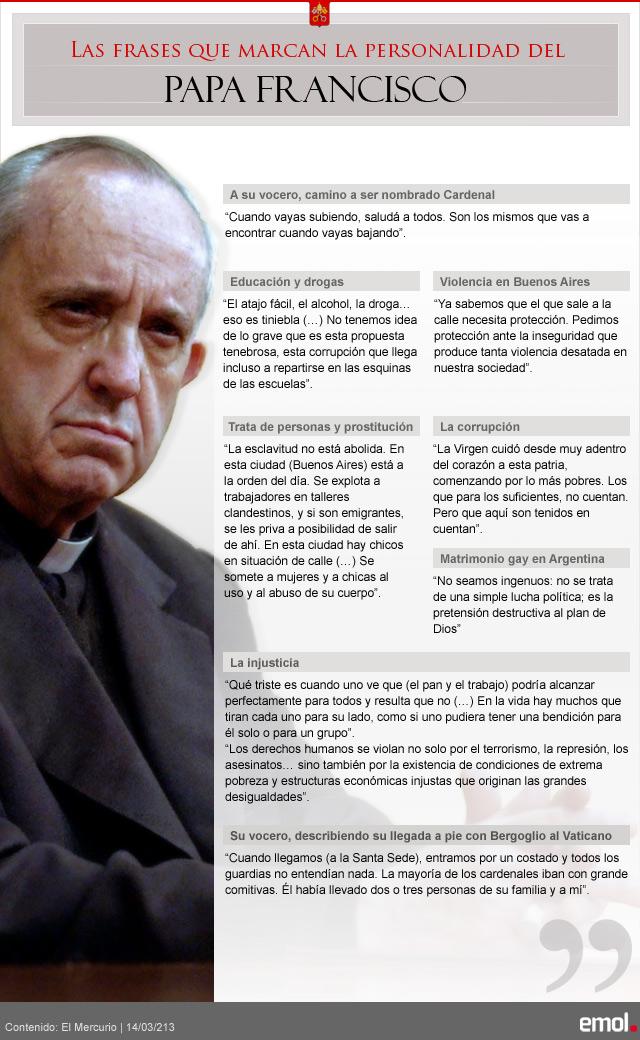 Las Frases Que Marcan La Personalidad Del Papa Francisco